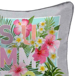 Poszewka dekoracyjna na poduszkę Summer ananas kwiaty