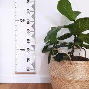 Duża miarka wzrostu drewniana płócienna 200cm KLASYCZNA