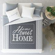 NARZUTA szara pikowana Home Sweet Home 200x220