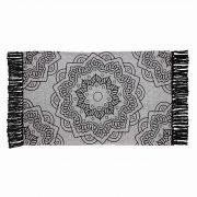 Dywanik bawełniany mandala z frędzlami szary czarny 50x80