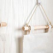 Wiszący organizer do łazienki kuchni brązowy wodoodporny