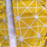 Wiszący organizer żółty do łazienki kuchni wodoodporny