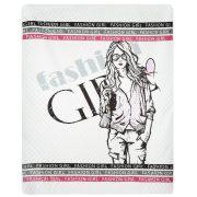 Narzuta młodzieżowa dla dziewczyny Fashion z ozdobnymi napisami 170×210