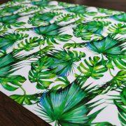 Podkładka mata na stół tropikalna liście monstery zielona
