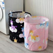 Pojemnik na zabawki Unicorn różowy kosz z jednorożcami