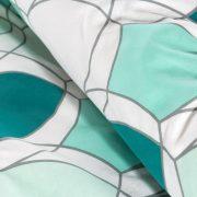POŚCIEL bawełniana 160×200 Łuska biała miętowa zielona
