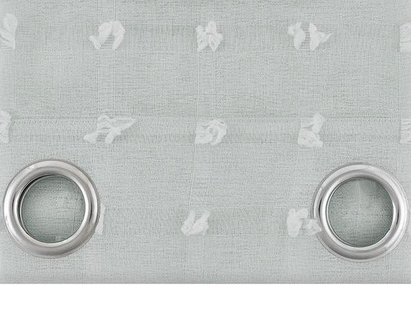 Firana z frędzlami jasno szara dekoracyjna na przelotkach 140x250