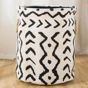 Kosz na tekstylia poduszki koce pojemnik azteckie wzory