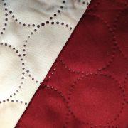 Narzuta bordowa kremowa 170×210 pikowana KOŁA dwustronna