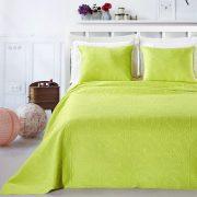Narzuta zielona limonkowa 220x240 z poszewkami ornamenty