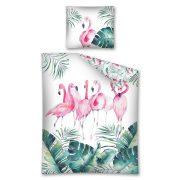 POŚCIEL z flamingami liście monstery 160x200 bawełniana Flaming