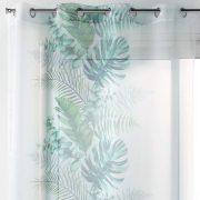 FIRANA biała monstera liście tropikalna 140×240 zielona turkusowa