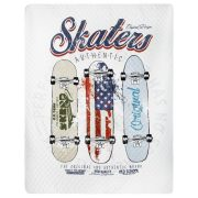 Narzuta dla chłopca deskorolki 170×210 młodzieżowa pikowana Skaters
