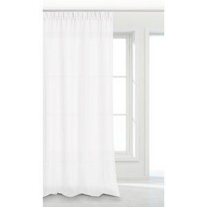 Zasłona biała na taśmie do salonu gładka 140x250 gotowa