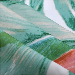 ZASŁONA nowoczesna kwiaty liście z barwnym nadrukiem 140x250