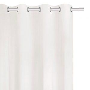 Zasłona zaciemniająca biała gładka welurowa 140x250