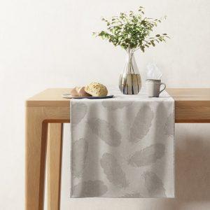 Bieżnik prostokątny beżowy cappuccino z wzorami dekoracyjny40x140