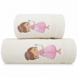 Ręcznik kąpielowy dziecięcy WRÓŻKA 70x140 kremowy