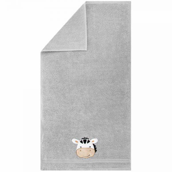 Ręcznik dziecięcy kremowy z naszywką kąpielowy ZEBRA 70x140