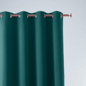 Zasłona petrol gładka nowoczesna gotowa 140x250 ciemny turkus