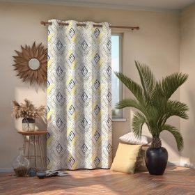 Geometryczna zasłona,która świetnie się sprawdzi również w salonie czy pokoju dziennym