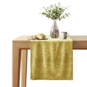 Bieżnik na stół złoty żółty ze złotym nadrukiem 40x140 dekoracyjny
