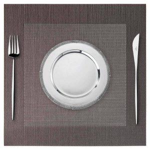 Podkładka kwadratowa na stół 35x35 wodoodporna mata brązowa
