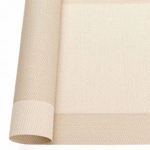 Podkładka kwadratowa na stół 35x35 wodoodporna mata kremowa