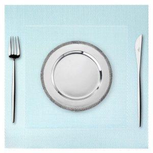 Podkładka kwadratowa na stół 35x35 wodoodporna mata turkusowa