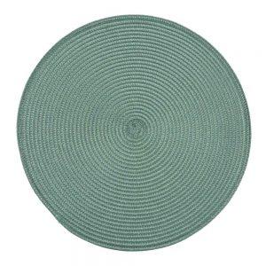 Okrągła mata na stół butelkowa zieleń podkładka kuchenna 38cm ozdobna