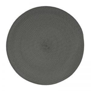 Okrągła podkładka na stół grafitowa dekoracyjna kuchenna 38cm