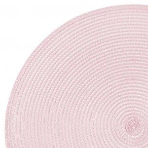 Okrągła mata na stół pudrowy róż podkładka dekoracyjna 38cm