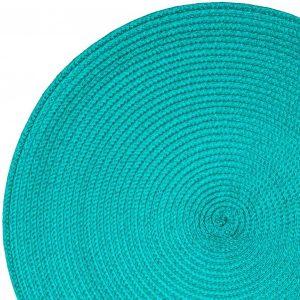 Okrągła podkładka na stół turkusowa dekoracyjna kuchenna 38cm
