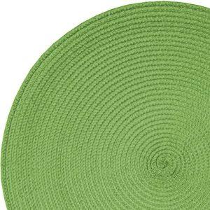 Okrągła mata na stół zielona podkładka kuchenna 38cm ozdobna