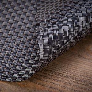 Podkładka mata na stół grafitowa pleciona 30x45 z połyskiem