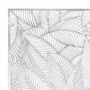 Podkładka na stół ażurowa srebrna 30x45 elegancka mata liście