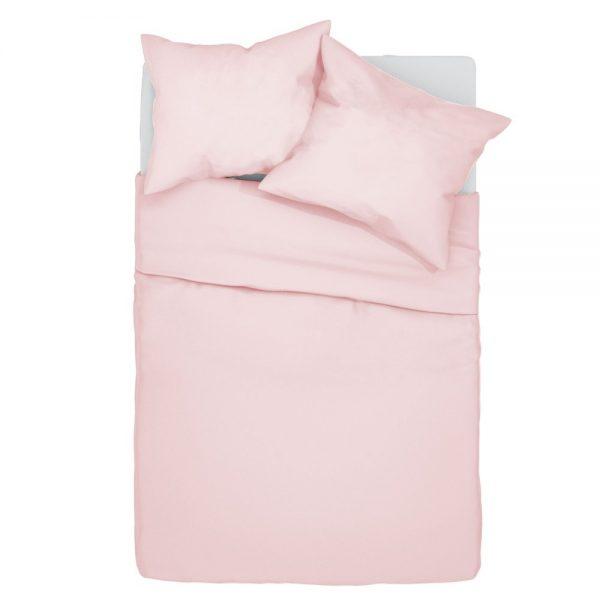 posciel-bawelniana-140×200-gladka-w-jednolitym-kolorze-pudrowy-roz