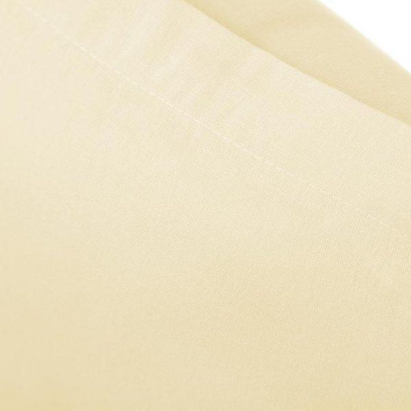 Prześcieradło bawełniane 200x220 kremowe matowe gładkie