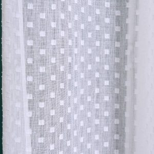 Firana dekoracyjna biała gotowa na tunelu z krytymi szelkami 140x260