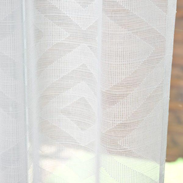 Firana geometryczna biała gotowa na tunelu romby 140x260