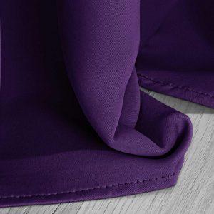 Zasłona zaciemniająca fioletowa na przelotkach gotowa 140x250