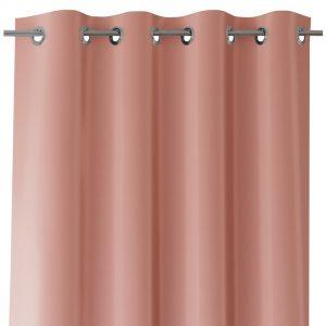 Zasłona różowa z szarfą do wiązania 140x250 gotowa gładka na przelotkach