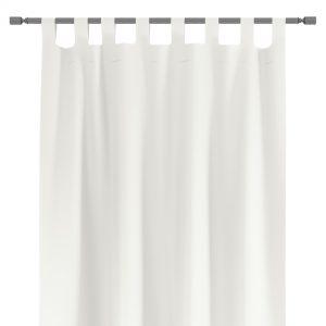 Zasłona na szelkach gotowa biała 140x250 gładka z szarfą do upięcia