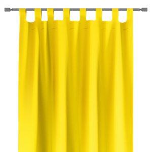 Zasłona żółta na szelkach gotowa 140x250 z szarfą do upięcia