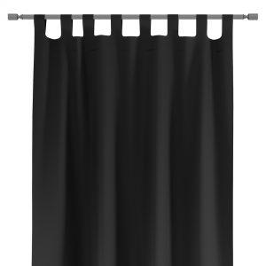 Zasłona czarna na szelkach gotowa z szarfą do upięcia 140x250