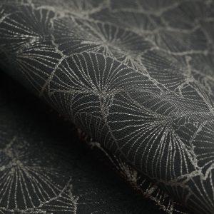 Bieżnik czarny ze srebrnym nadrukiem elegancki Glamour 40x140