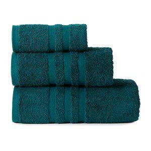 Gruby ręcznik frotte turkusowy kąpielowy 30x50 bawełniany mały
