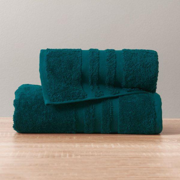 Gruby ręcznik frotte turkusowy ciemny kąpielowy 50x90 bawełniany nowoczesny