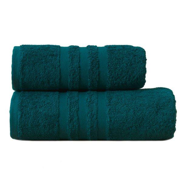 Gruby ręcznik frotte turkusowy ciemny kąpielowy 50×90 bawełniany nowoczesny.jpg