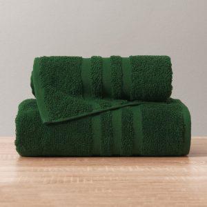 Gruby ręcznik frotte ciemny zielony kąpielowy 50x90 bawełniany nowoczesny
